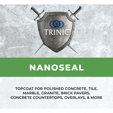 This renewable finish used on polished concrete, tile, marble, granite, brick, pavers, concretecountertops, overlays, and many other surfaces. Nanoseal comes in matte and gloss, the twocan be mixed together to achieve a satin